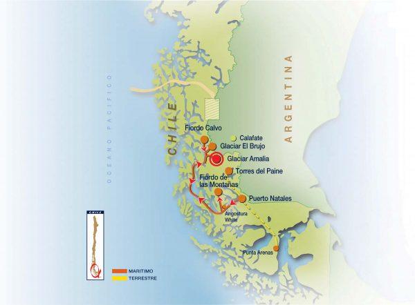 Mapa Ruta Skorpios 3